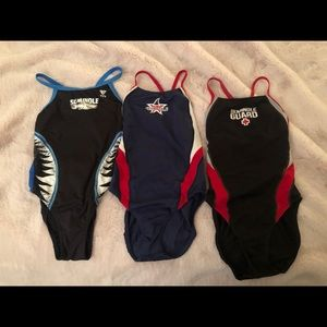 3 competitive swimming suits. 2 Speedo 1 TYR